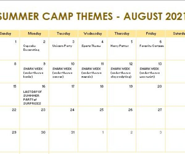 August camp themes